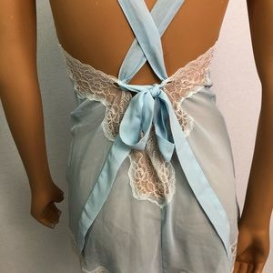 Adore Me Intimates & Sleepwear - Adore Me Light blue lace babydoll Sz M